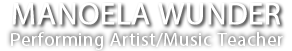 Manoela Wunder – Los Angeles violinist and violist, LA violin teacher, viola lessons logo